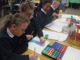 P5 using Numicon for Learning Division