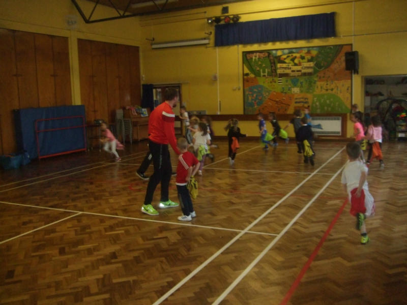 P1-P7 pupils are enjoying their Football sessions which are taking place on Wednesday afternoons for a period of six weeks. The pupils are developing their football and teamwork skills whilst having lots of fun!